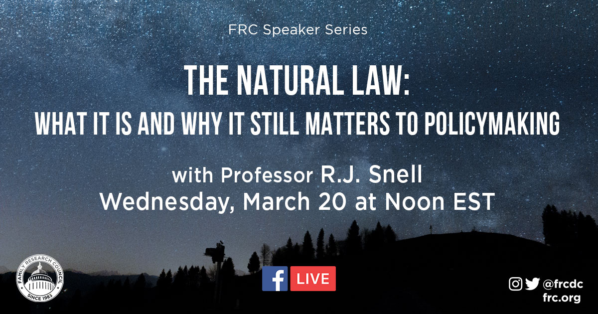 The Natural Law: What it is and Why it Still Matters to Policymaking