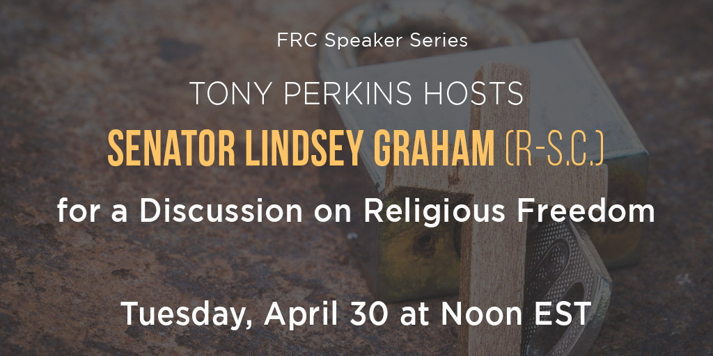 Tony Perkins Hosts Sen. Lindsey Graham for a Discussion on Religious Freedom